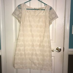 Cream Eyelet Dress